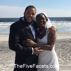 Aaliyah & James at the Beach, Married March 30, 2015