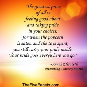 Annah Elizabeth's Best Prize of All Power Mantra Quote