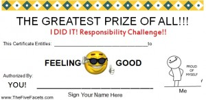 Best Prize of All Certificate