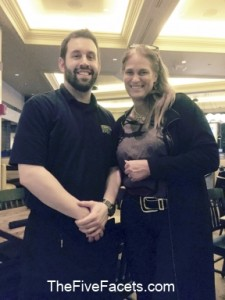 Broadway Burger Bar Manager Rose Ann w our Waiter Jaimie