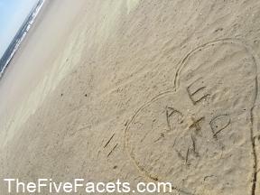 Heart & Initials on the Beach