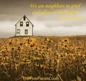 We are Neighbors in Grief and Allies in Healing Home Pin