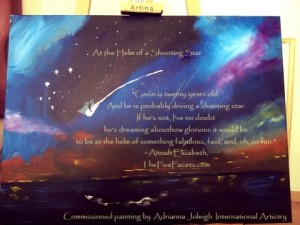 At the Helm of a Shooting Star Portrait by Adrianna Joleigh w Quote
