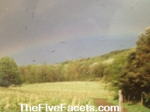 Rainbow after Gavin died w Five Facets Tag