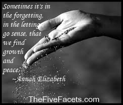 hand letting go of dirt w The Five Facets Quote