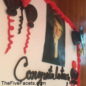 Big Guy Graduation Cake