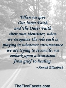 Our Inner Faith & The Outer Faith Recognition Quote