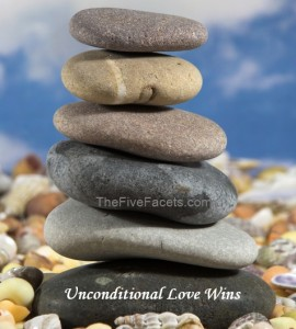 Zen Rocks with Unconditional Love Wins Quote