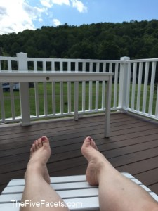 A little R&R on my deck