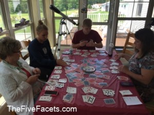 A card game called Hand & Foot uses 6 decks of cards!