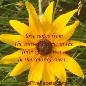 Love Notes from the universe Yellow Flower