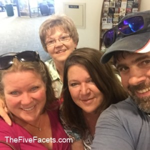 Mom, Sis, Warren, and Me Saying Goodby at Airport