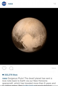 Nasa Instagram Love Notes from Pluto