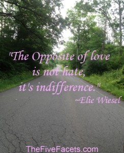 The Opposite of Love Elie Wiesel Quote