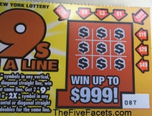 999 Lottery Tix