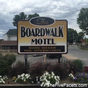The Boardwalk Motel Sign Alexandria Bay