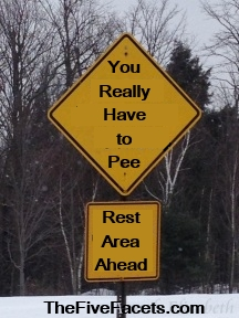 You Really Have to Pee Road Sign