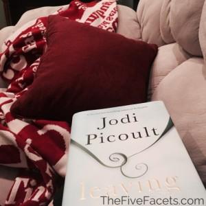 On Comy Sofa Reading Jodi Picoult's Leaving Time