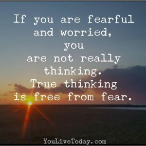 You Live Today's Inspirational Pic on Fear