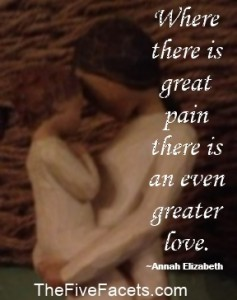 Mother Child w Quote Where there is great pain there is an even greater love Instagram