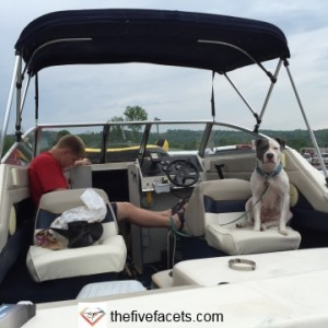 Patches' First Time Out on Boat