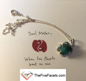 Anniversary Card and Emerald Necklace