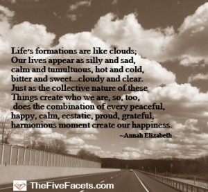 Life's Formations are Like Clouds Image w Quote
