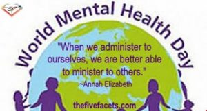 People and Globe w World Mental Health Day w Annah Elizabeth Quote