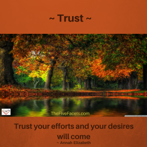 at the intersection of passion, persistence, and partnerships - Trust - trust your efforts image