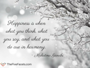 Happiness quote Mahatma Ghandi