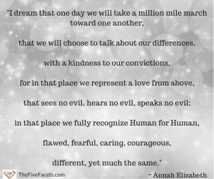 I dream of unity passage Annah Elizabeth